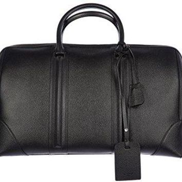Givenchy genuine leather travel duffle weekend shoulder bag small black
