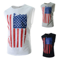 U.S Flag Sleeveless Tank Top