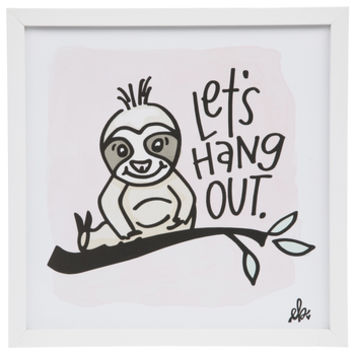 Let's Hang Out Sloth Wood Wall Decor | Hobby Lobby | 1818558