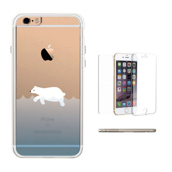 360° Full Protection Polar Bear Clear Phone Case