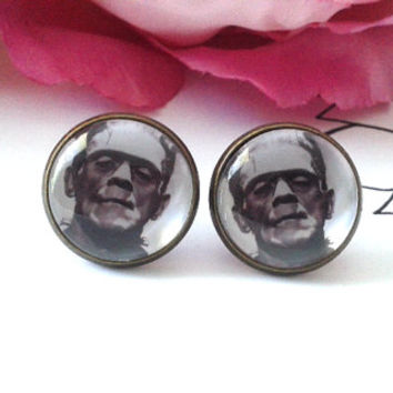 Monster Stud Earrings - Studs - Earrings - Fake Plugs - Faux Plugs - Plugs - Goth Earrings - Gothic Monster - Monsters - Monster Jewelry