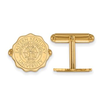 NCAA 14k Gold Plated Silver Eastern Kentucky Univ. Crest Cuff Links