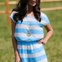 Cape Cod Bound Romper-Sky Blue