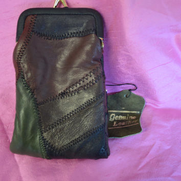 Vintage, Patchwork Leather, Cigarette/Lighter/Wallet.