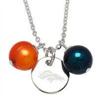 "Honora Officially Licensed NFL ""Denver Broncos"" Freshwater Cultured Ringed Pearl Pendant"