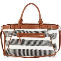 Sole Society Stripe Woven Weekend Bag | Nordstrom