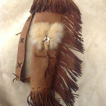 Distressed Leather Archery Quiver Custom Made