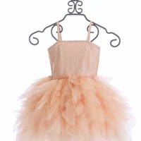 Ooh La La Couture Devin High Low Dress Pink Champagne Wow