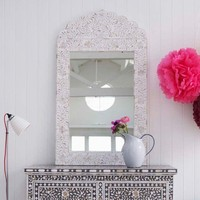 Adriana White Floral Mirror - New Summer Finds - Mirrors