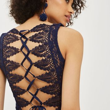 Trim Lace Up Back Body - New In Fashion - New In