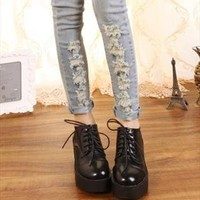 retro lace up boots in black from myladies
