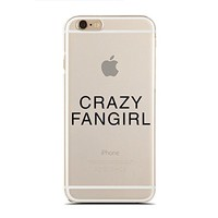 Clear Snap-On case - for iPhone 6/6S - Super Slim Case - Crazy Fangirl - Teenager Girl - Kawaii Girl - Hipster (C) Andre Gift Shop