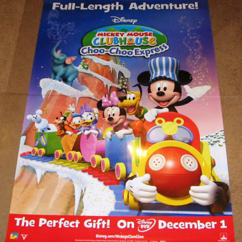Mickey Mouse Clubhouse Choo-Choo Express Movie Poster 27x40 Used Disney