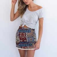 Tassels Summer High Waist Skirt [10016485773]