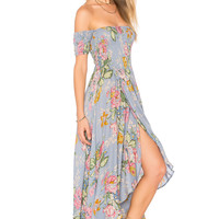 AUGUSTE Boheme Goddess Maxi Dress in Duck Egg Blue | REVOLVE