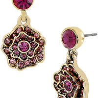 BetseyJohnson.com - IMPERIAL ROSE DROP EARRING PINK