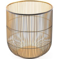Jaula Candle Holder Large Matte Black & Gold