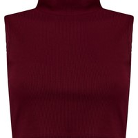 Tia Turtle Neck Sleeveless Crop Jumper