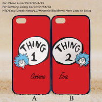 Thing 1 and Thing 2 Couple Case,Custom Case,iPhone 6+/6/5/5S/5C/4S/4