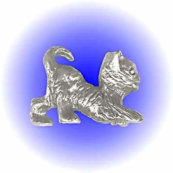 Kitty Cat Pewter Figurine  Lead Free.