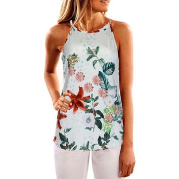 New Printed Summer Floral Sleeveless Casual Vest top