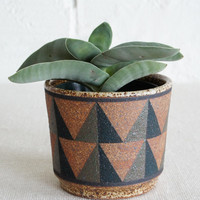 Kat and Roger Ceramic Planter Triangles