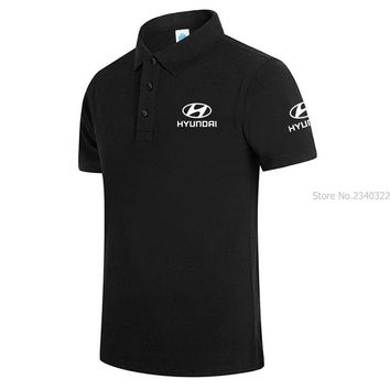 New Arrival Brand Clothing Hyundai Men Business & Casual Male Short Sleeve Polo Shirt C1904150
