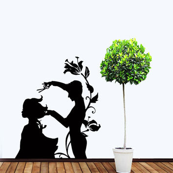 Wall VInyl Decal Sticker Beauty Hair Salon Art Design  Room Nice Picture Decor Hall Wall Chu1207