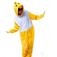Pajamas Anime Costume Adult Animal Onesuit Duck Cosplay Size S Yellow