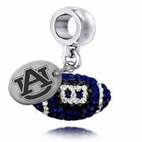 Buy Auburn Tigers Enameled Football Drop Charm. Solid Sterling Silver with Enamel . Free Shipping