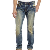 CULT OF INDIVIDUALITY Dark Wash Rocker Slim Destroyed Jeans