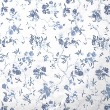 Stroheim Fabric 6084002 6081B Cherry Blossom S0025 Delft On Cream