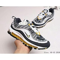 NIKE Air Max OG 98 Fashion Men Casual Running Sport Shoes Sneakers Grey Yellow I