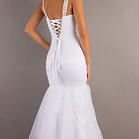 Long White Mermaid Dress