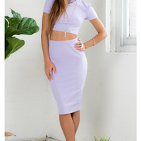 Find The Light Two Piece Set in Lilac