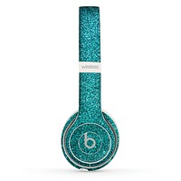 The Teal Glitter Ultra Metallic Skin Set for the Beats by Dre Solo 2 Wireless Headphones