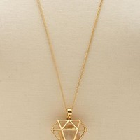 Diamond Cage Pendant Necklace: Charlotte Russe