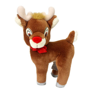 Rudolf Plush Vintage Christmas Holiday Toy Decor Rudolph The Red Nosed Reindeer Stuffed Animal Applause
