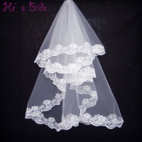 White One Layer 1.5 Meters Wedding Veil