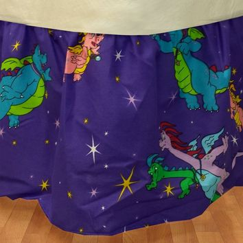 Dragon Tales Twin Bedskirt Cartoon Dragons Bed Accessory