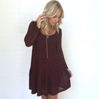 Glowing Ember Knit Dress