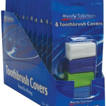 Handy Solutions Toothbrush Travel Caps - 4 Pack(Pack Of 144)