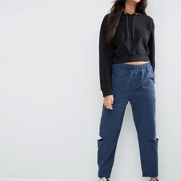 ASOS Split Knee Peg Pants at asos.com