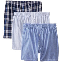 Geoffrey Beene Mens Cotton Button Fly Boxers