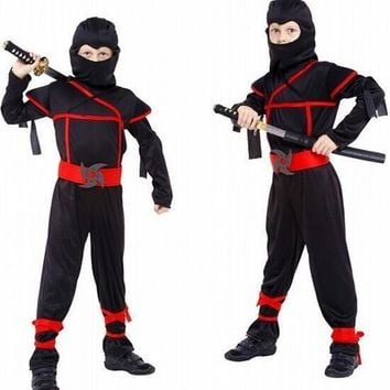 Children Halloween Cosplay Costume Boy Naruto 4 Pcs Jumpsuits+Hat +Belt+Rope Love Live Cosplay Stage Performance Clothing 18