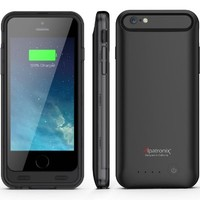 iPhone 6S Battery Case, iPhone 6 Battery Case, Alpatronix® [BX140] MFi Apple Certified 3100mAh Ultra-Slim Removable Rechargeable Protective Charging Case [Full Support with iOS 9+] - (Black)