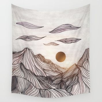 Lines in the mountains Wall Tapestry by Viviana Gonzalez