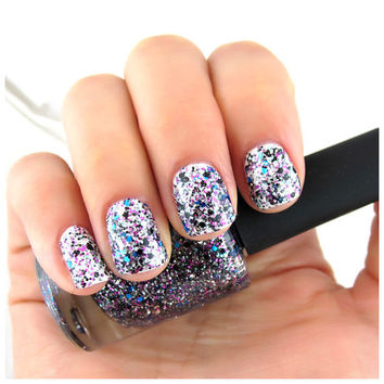 Party of Four - Blue, Purple, Black, Silver Glitter Nail Polish