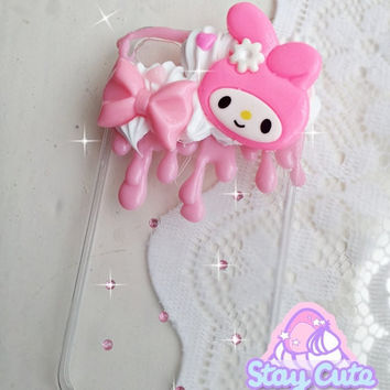 CUSTOMISED kawaii melty decoden case for iPhone 4 by westaycute