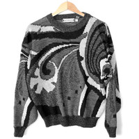 Vintage 90s Abstract Landscape Cosby Ugly Sweater
